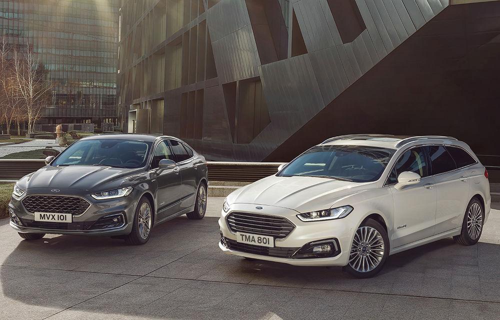 Ford Mondeo facelift, poze și informații oficiale: modificări minore la nivel estetic, motorizări îmbunățățite și versiune hibrid pe varianta break - Poza 1