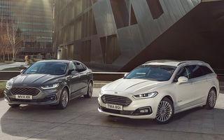 Ford Mondeo facelift, poze și informații oficiale: modificări minore la nivel estetic, motorizări îmbunățățite și versiune hibrid pe varianta break