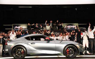 Primul exemplar din noua generație Toyota Supra, vândut cu 2.1 milioane dolari la licitație: banii vor fi donați în scopuri caritabile