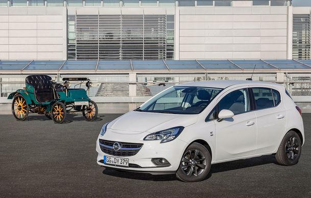 """Opel Corsa """"120 Years"""": ediție specială cu ocazia celor 120 de ani de la fabricarea primului automobil Opel - Poza 1"""