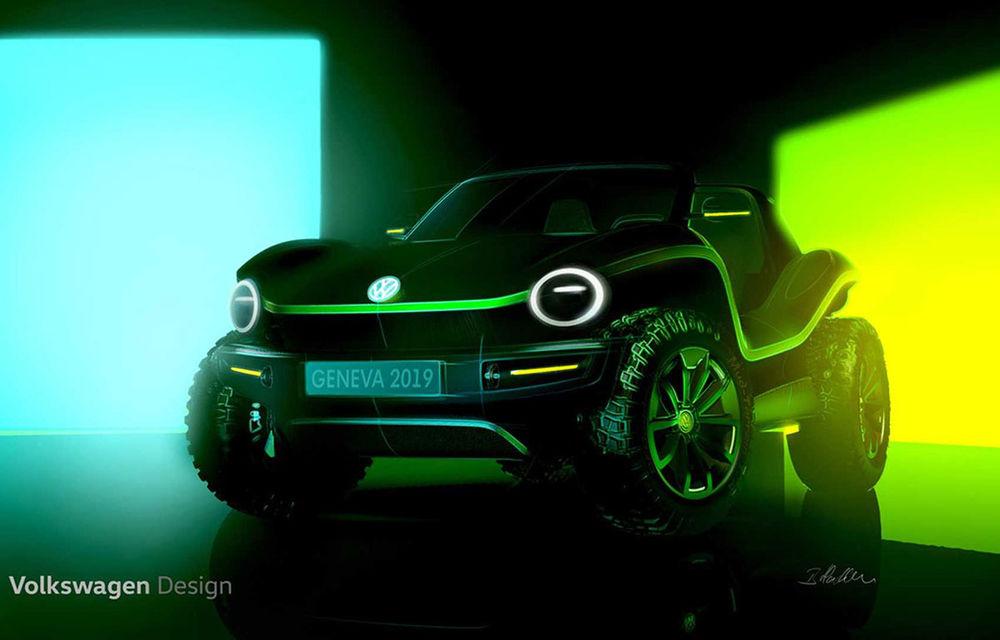 Primele schițe cu viitorul e-buggy pregătit de Volkswagen: prototipul electric debutează la Geneva - Poza 1
