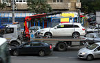 Ridicarea mașinilor parcate neregulamentar în București ar putea începe în primăvară: taxa pentru recuperare este de 500 de lei