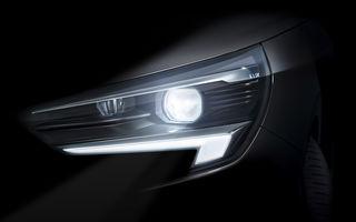 Prima imagine teaser cu viitoarea generație Opel Corsa: modelul de segment B va fi echipat cu faruri cu tehnologie LED Matrix