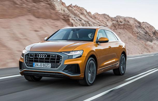 Audi introduce două motoare noi pe Q8: 3.0 litri diesel cu 231 CP și V6 benzină cu 340 CP - Poza 1