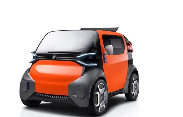Citroen Ami One vine la Geneva: conceptul electric are autonomie de 100 km și poate fi condus fără permis - Poza 1