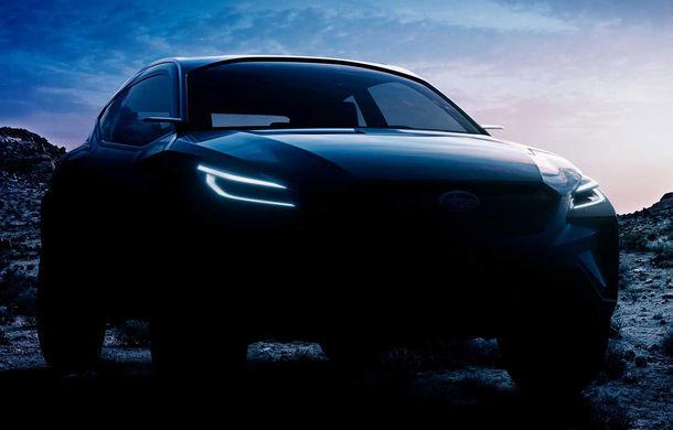Prima imagine teaser cu viitorul Subaru Viziv Adrenaline: conceptul producătorului nipon debutează la Geneva - Poza 1