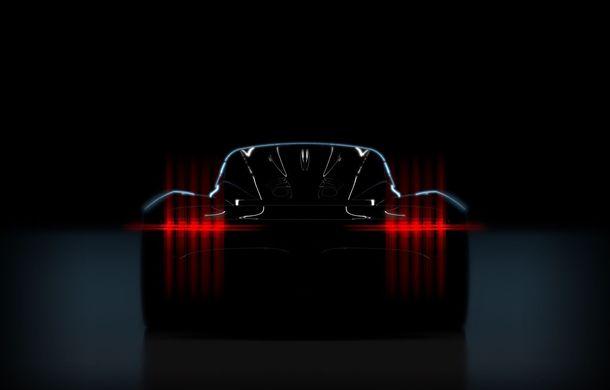 Primul teaser cu noul hypercar Aston Martin: lansare așteptată în martie la Geneva - Poza 1
