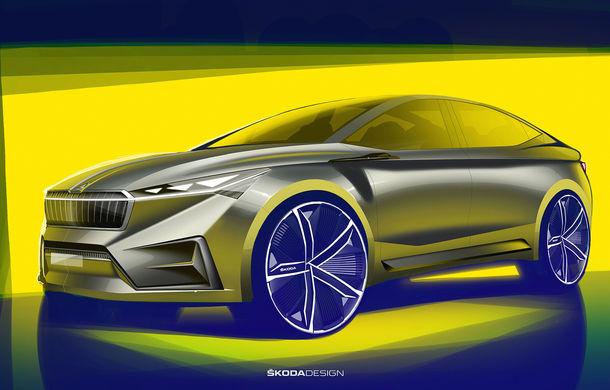 Prima schiță cu interiorul noului Skoda Vision iV: conceptul electric va fi prezentat în 5 martie - Poza 2