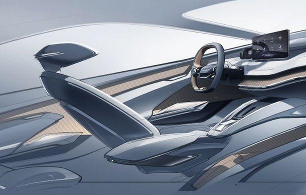 Prima schiță cu interiorul noului Skoda Vision iV: conceptul electric va fi prezentat în 5 martie - Poza 3