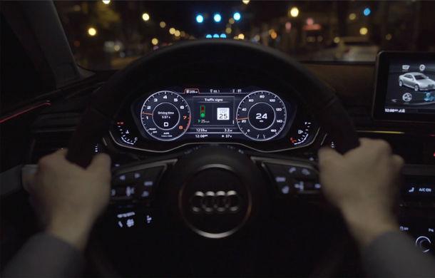 Audi lansează un sistem care recomandă viteza optimă pentru a evita staționarea la semafoare - Poza 1