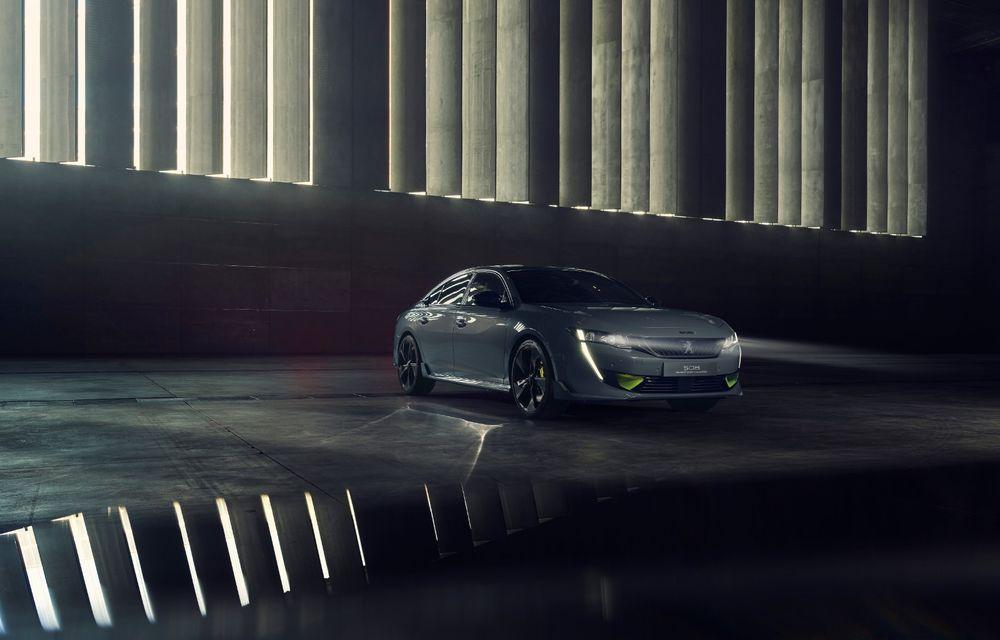 Peugeot prezintă conceptul 508 Sport Engineered: tracțiune integrală, autonomie de 50 km în modul electric și accelerație 0-100 km/h în 4.3 secunde: debut la Geneva - Poza 3