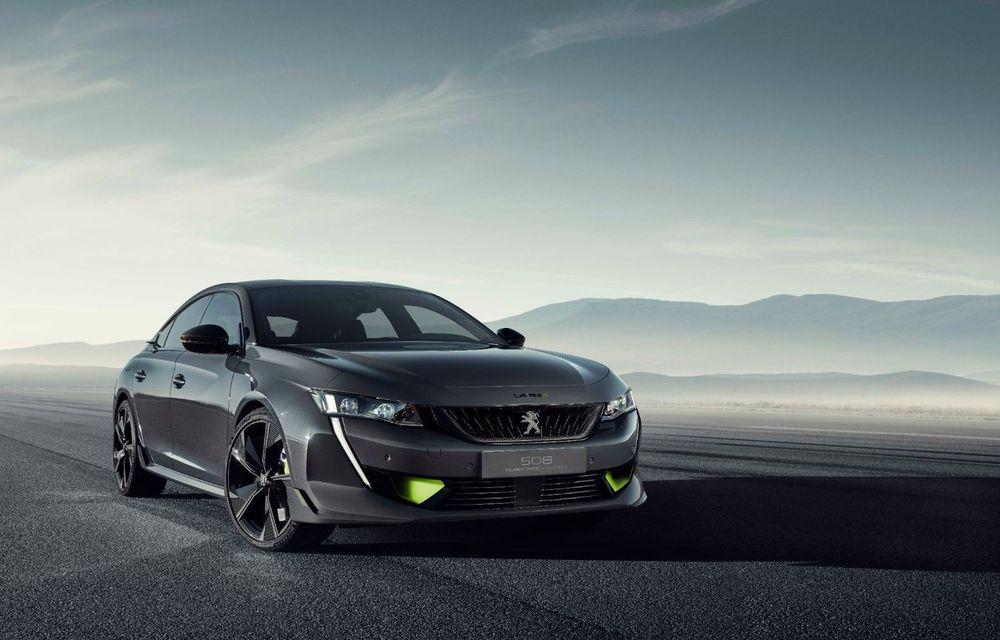 Peugeot prezintă conceptul 508 Sport Engineered: tracțiune integrală, autonomie de 50 km în modul electric și accelerație 0-100 km/h în 4.3 secunde: debut la Geneva - Poza 1