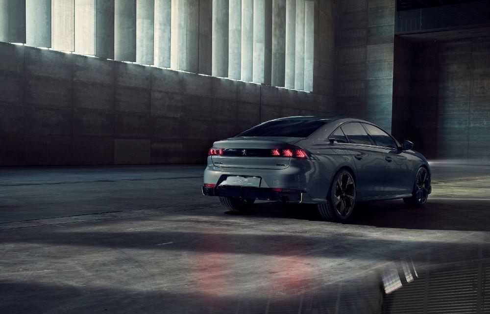 Peugeot prezintă conceptul 508 Sport Engineered: tracțiune integrală, autonomie de 50 km în modul electric și accelerație 0-100 km/h în 4.3 secunde: debut la Geneva - Poza 2