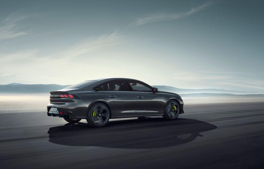 Peugeot prezintă conceptul 508 Sport Engineered: tracțiune integrală, autonomie de 50 km în modul electric și accelerație 0-100 km/h în 4.3 secunde: debut la Geneva - Poza 25