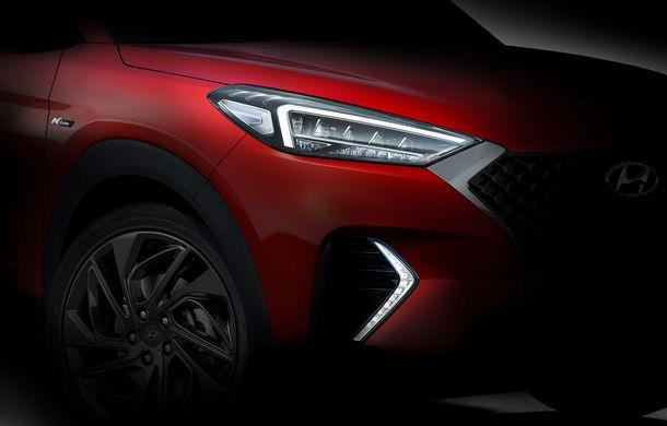 Primele imagini teaser cu viitorul Hyundai Tucson N Line: design mai agresiv pentru SUV-ul asiatic - Poza 1