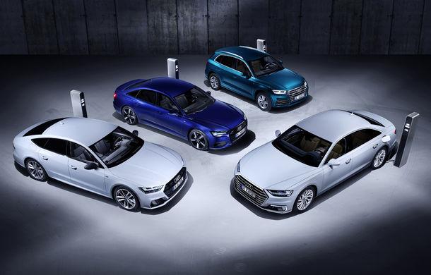 Audi lansează noi versiuni plug-in hybrid pentru Q5, A6, A7 și A8: până la 450 de cai putere și autonomie electrică de 40 de kilometri - Poza 1