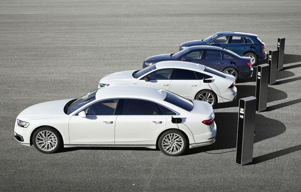 Audi lansează noi versiuni plug-in hybrid pentru Q5, A6, A7 și A8: până la 450 de cai putere și autonomie electrică de 40 de kilometri - Poza 2