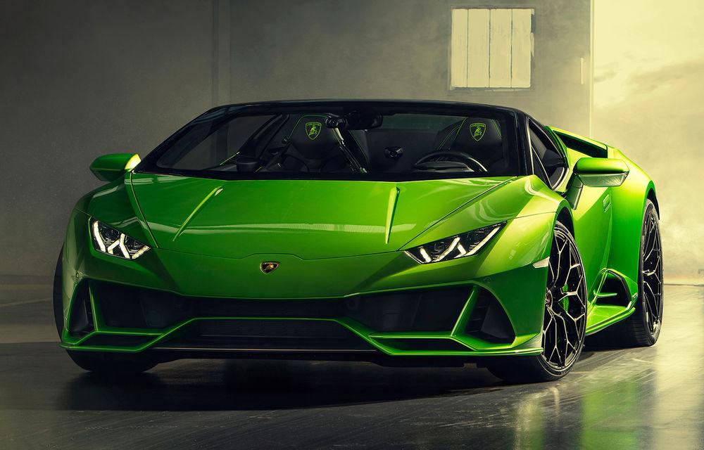 Lamborghini prezintă Huracan Evo Spyder: 640 CP și plafon retractabil care poate fi operat până la 50 km/h - Poza 1