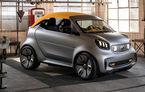 Smart prezintă noul concept electric Forease+: fără geamuri laterale, dar cu plafon din material textil