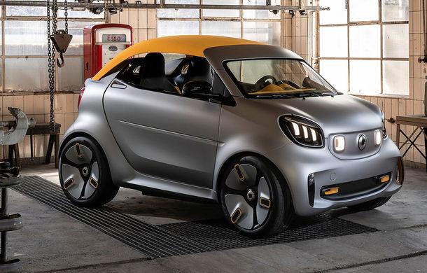 Smart prezintă noul concept electric Forease+: fără geamuri laterale, dar cu plafon din material textil - Poza 1