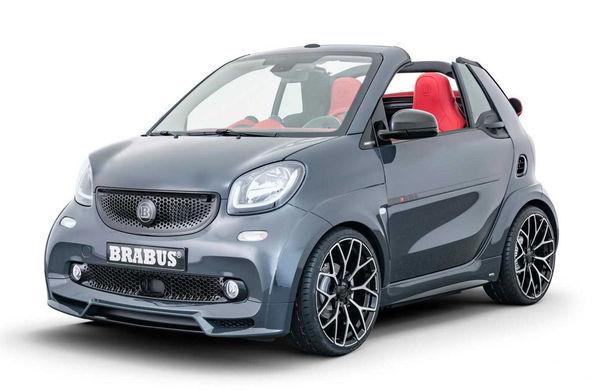 Brabus a pregătit un pachet special pentru EQ ForTwo Cabrio: modelul electric oferă 91 CP și o autonomie de până la 125 de kilometri - Poza 1