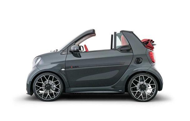 Brabus a pregătit un pachet special pentru EQ ForTwo Cabrio: modelul electric oferă 91 CP și o autonomie de până la 125 de kilometri - Poza 2