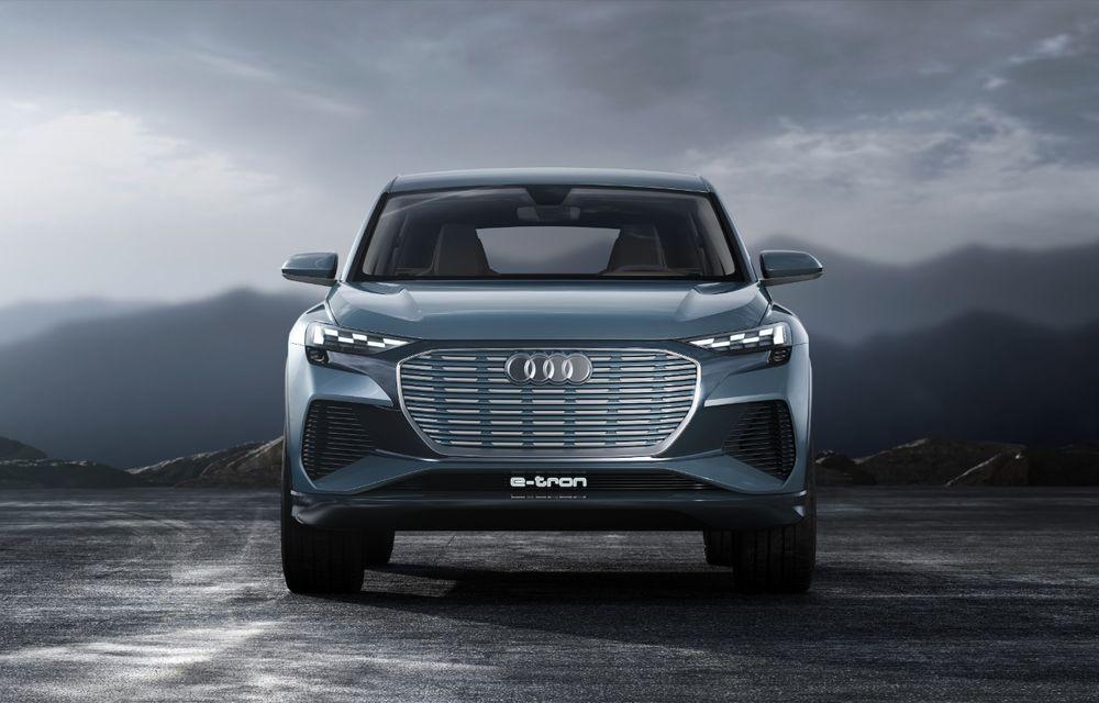 Audi prezintă conceptul Q4 e-tron: SUV-ul electric are tracțiune integrală, peste 300 CP și autonomie de 450 km: versiune de serie la sfârșit de 2020 - Poza 9