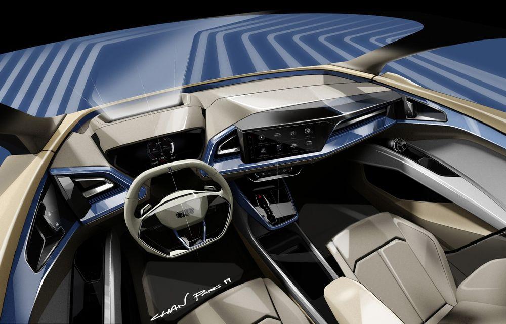 Audi prezintă conceptul Q4 e-tron: SUV-ul electric are tracțiune integrală, peste 300 CP și autonomie de 450 km: versiune de serie la sfârșit de 2020 - Poza 3