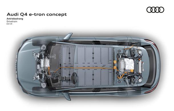 Audi prezintă conceptul Q4 e-tron: SUV-ul electric are tracțiune integrală, peste 300 CP și autonomie de 450 km: versiune de serie la sfârșit de 2020 - Poza 7