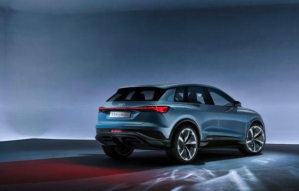 Audi prezintă conceptul Q4 e-tron: SUV-ul electric are tracțiune integrală, peste 300 CP și autonomie de 450 km: versiune de serie la sfârșit de 2020 - Poza 15