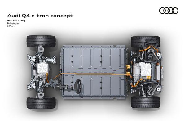 Audi prezintă conceptul Q4 e-tron: SUV-ul electric are tracțiune integrală, peste 300 CP și autonomie de 450 km: versiune de serie la sfârșit de 2020 - Poza 8