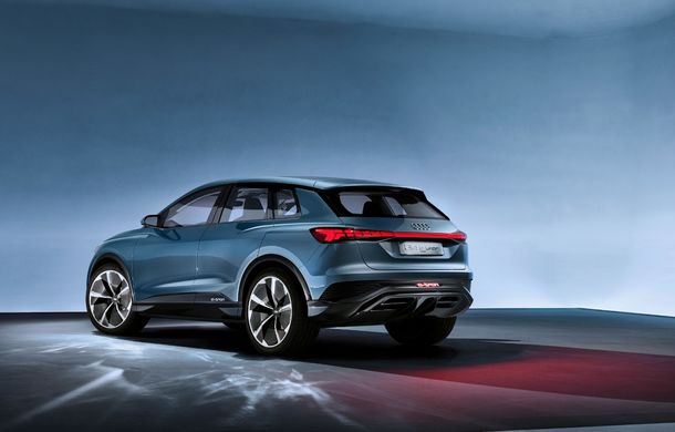 Audi prezintă conceptul Q4 e-tron: SUV-ul electric are tracțiune integrală, peste 300 CP și autonomie de 450 km: versiune de serie la sfârșit de 2020 - Poza 14