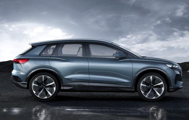 Audi prezintă conceptul Q4 e-tron: SUV-ul electric are tracțiune integrală, peste 300 CP și autonomie de 450 km: versiune de serie la sfârșit de 2020 - Poza 10