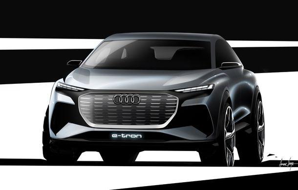 Audi prezintă conceptul Q4 e-tron: SUV-ul electric are tracțiune integrală, peste 300 CP și autonomie de 450 km: versiune de serie la sfârșit de 2020 - Poza 2