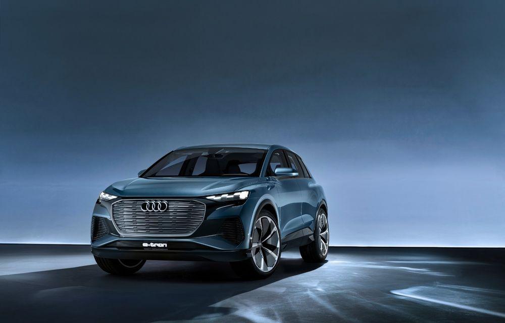 Audi prezintă conceptul Q4 e-tron: SUV-ul electric are tracțiune integrală, peste 300 CP și autonomie de 450 km: versiune de serie la sfârșit de 2020 - Poza 12