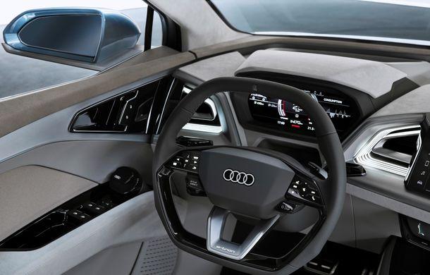 Audi prezintă conceptul Q4 e-tron: SUV-ul electric are tracțiune integrală, peste 300 CP și autonomie de 450 km: versiune de serie la sfârșit de 2020 - Poza 21