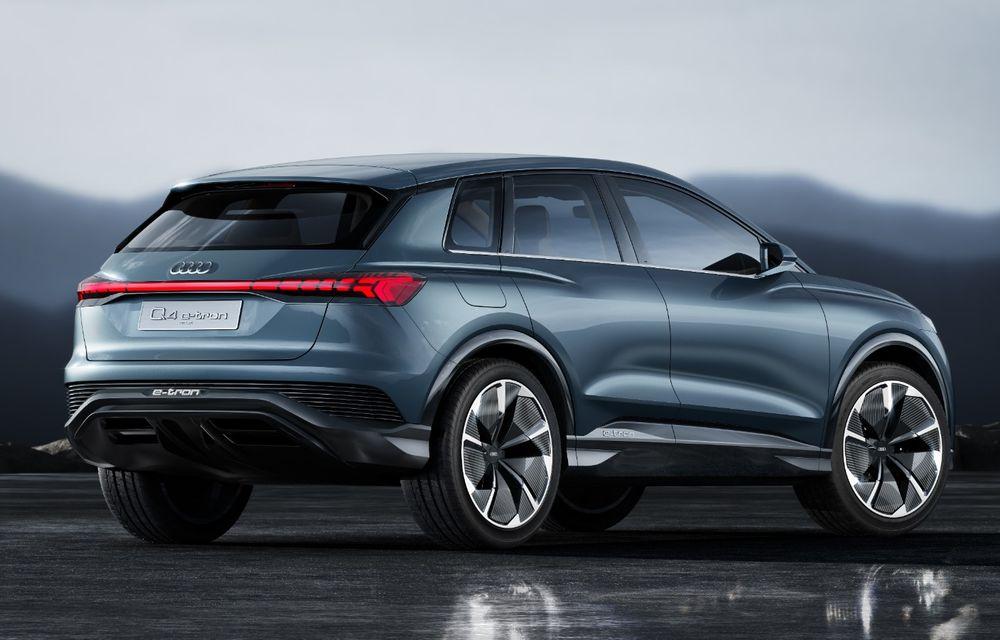 Audi prezintă conceptul Q4 e-tron: SUV-ul electric are tracțiune integrală, peste 300 CP și autonomie de 450 km: versiune de serie la sfârșit de 2020 - Poza 24