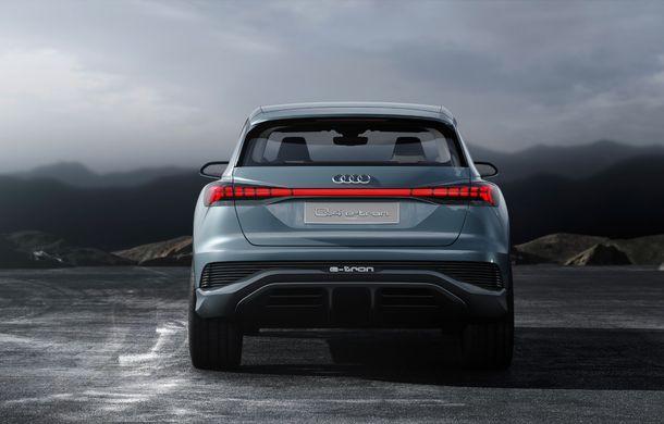 Audi prezintă conceptul Q4 e-tron: SUV-ul electric are tracțiune integrală, peste 300 CP și autonomie de 450 km: versiune de serie la sfârșit de 2020 - Poza 11