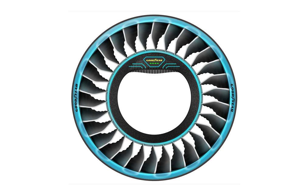 Goodyear prezintă pneurile pentru viitoarele mașini zburătoare: nu au nevoie de aer și joacă rol de propulsie magnetică - Poza 4