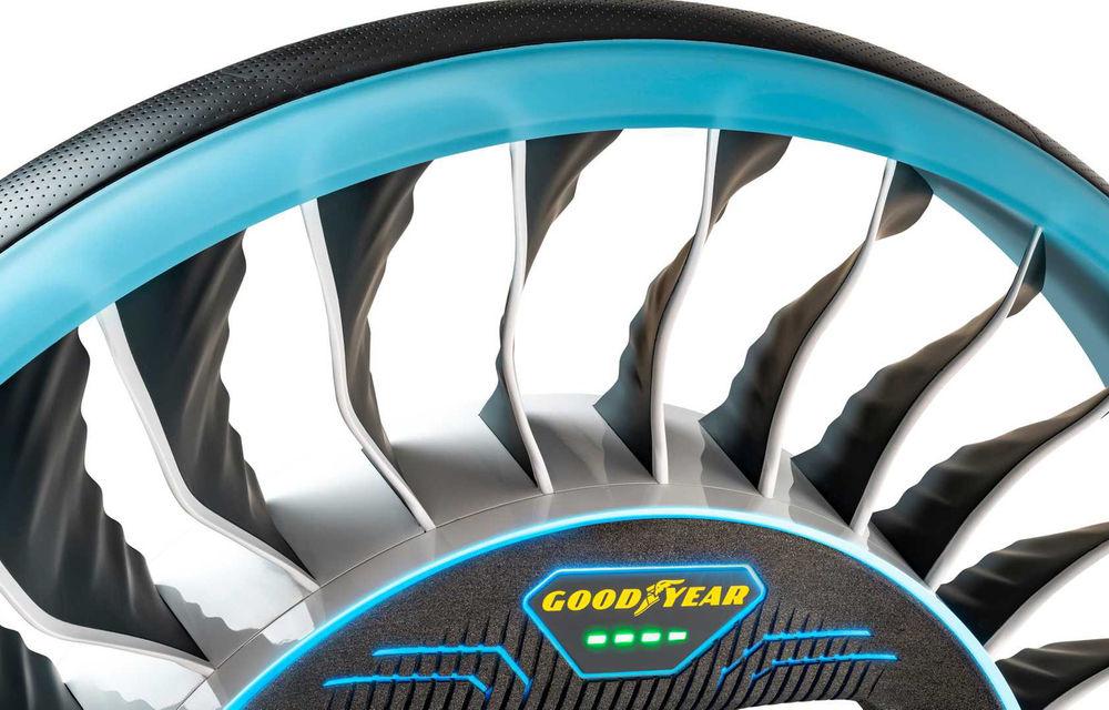 Goodyear prezintă pneurile pentru viitoarele mașini zburătoare: nu au nevoie de aer și joacă rol de propulsie magnetică - Poza 2