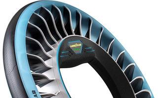Goodyear prezintă pneurile pentru viitoarele mașini zburătoare: nu au nevoie de aer și joacă rol de propulsie magnetică
