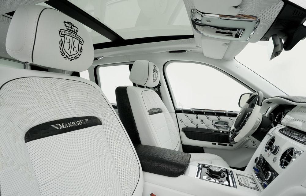 Rolls-Royce Cullinan Billionaire: cel mai scump SUV din lume primește îmbunătățiri din partea tunerului Mansory - Poza 10