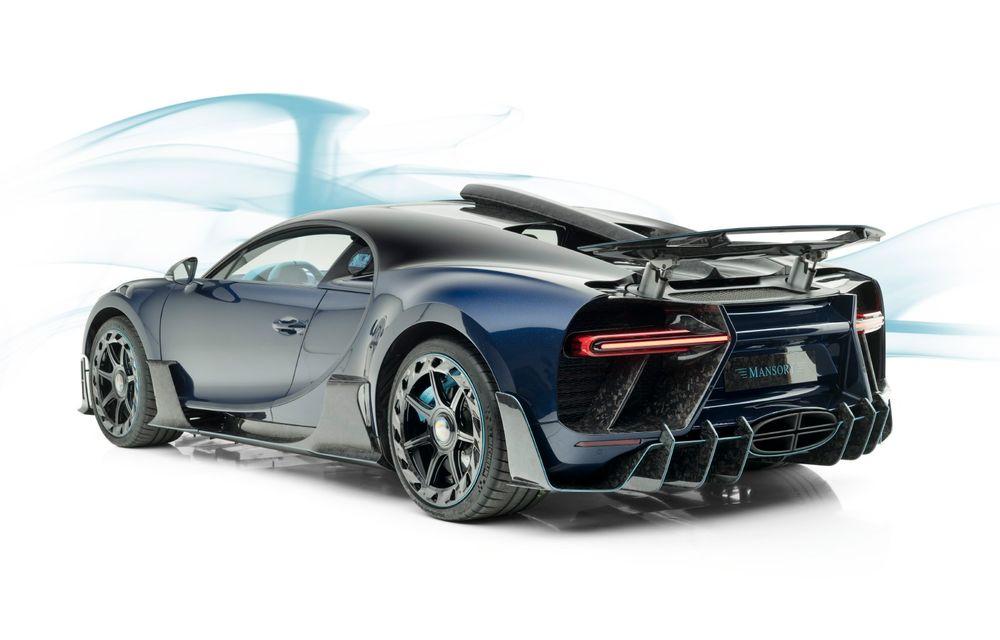 Mansory Centuria: primul tuning exterior pentru Bugatti Chiron propune accesorii de caroserie din fibră de carbon - Poza 2