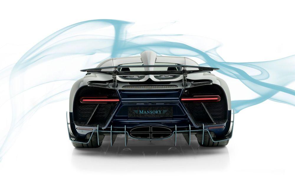 Mansory Centuria: primul tuning exterior pentru Bugatti Chiron propune accesorii de caroserie din fibră de carbon - Poza 6