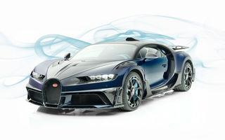 Mansory Centuria: primul tuning exterior pentru Bugatti Chiron propune accesorii de caroserie din fibră de carbon