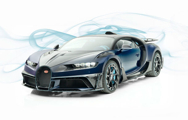 Mansory Centuria: primul tuning exterior pentru Bugatti Chiron propune accesorii de caroserie din fibră de carbon - Poza 1