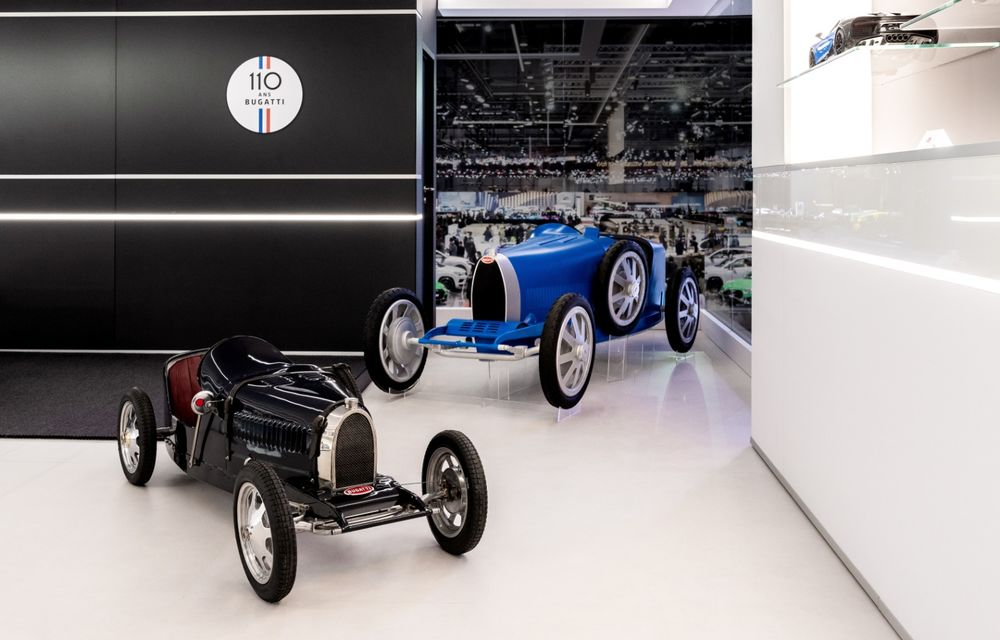 Bugatti lansează Baby II: vehiculul electric de mici dimensiuni are roți motrice spate, dezvoltă 13 CP și este inspirat de legendarul Type 35. - Poza 8