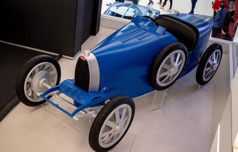 Bugatti lansează Baby II: vehiculul electric de mici dimensiuni are roți motrice spate, dezvoltă 13 CP și este inspirat de legendarul Type 35. - Poza 3