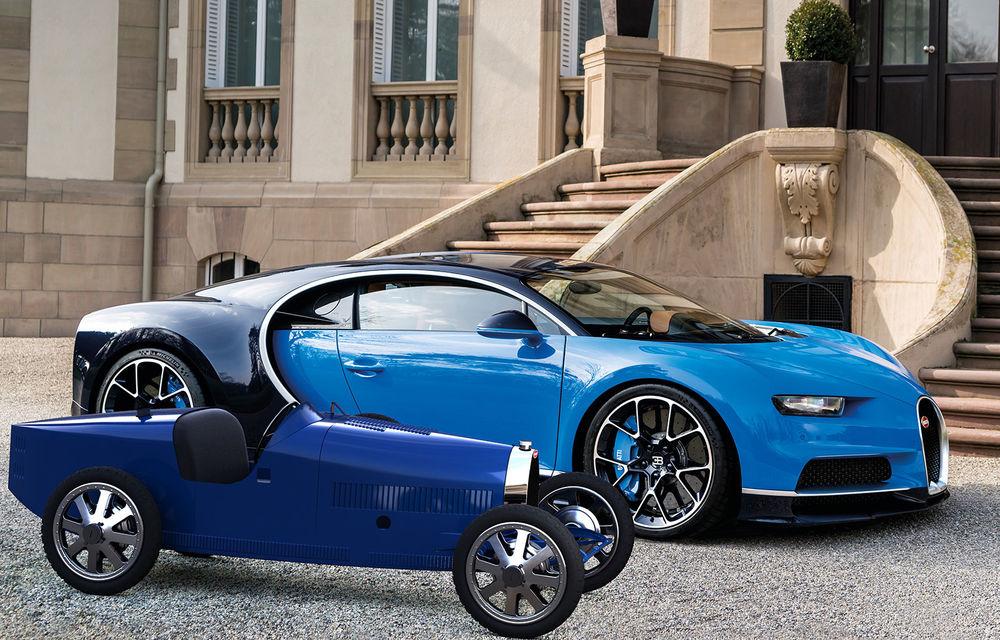 Bugatti lansează Baby II: vehiculul electric de mici dimensiuni are roți motrice spate, dezvoltă 13 CP și este inspirat de legendarul Type 35. - Poza 1