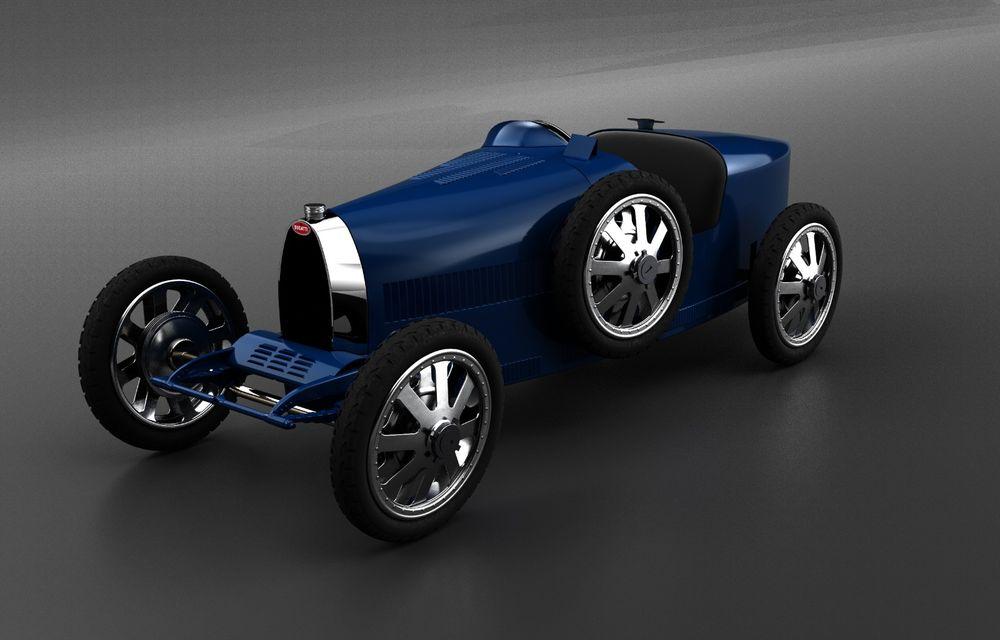 Bugatti lansează Baby II: vehiculul electric de mici dimensiuni are roți motrice spate, dezvoltă 13 CP și este inspirat de legendarul Type 35. - Poza 2